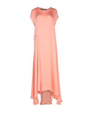 Длинное платье HAIDER ACKERMANN. Цвет: лососево-розовый