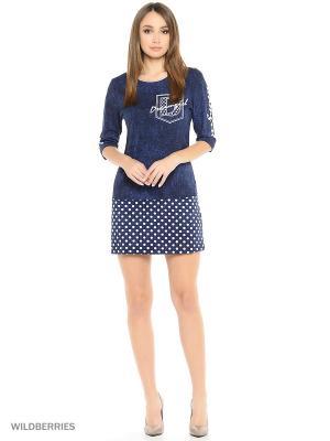 Платье-туника MARSOFINA. Цвет: синий