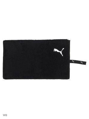Полотенце PUMA TR Towel. Цвет: черный