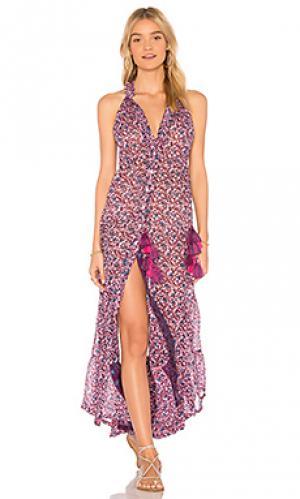 Макси платье honey Poupette St Barth. Цвет: розовый