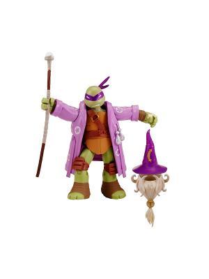 Фигурка Черепашки-ниндзя Волшебник Донни, 12 см Playmates toys. Цвет: зеленый, коричневый, фиолетовый