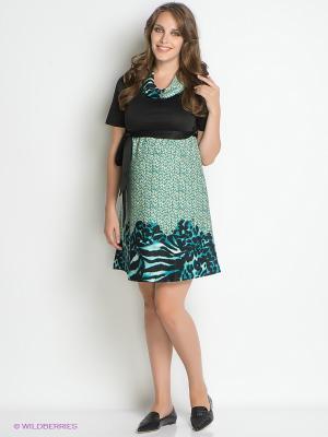 Платье для беременных 40 недель. Цвет: черный, бирюзовый