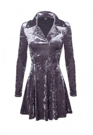Платье iSwag. Цвет: серый