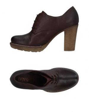 Обувь на шнурках DONNA PIÙ. Цвет: какао