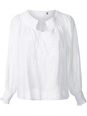 Блузка Nowos Fabiane Roux. Цвет: белый