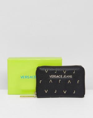 Versace Кошелек на молнии Jeans VJ. Цвет: черный