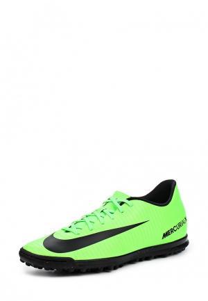 Шиповки Nike. Цвет: зеленый
