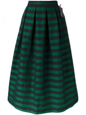 Декорированная  юбка Rochas. Цвет: зелёный
