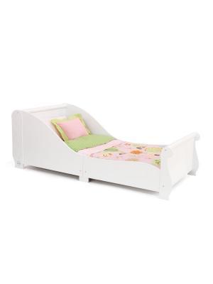 Детская кровать Sleigh KidKraft. Цвет: белый