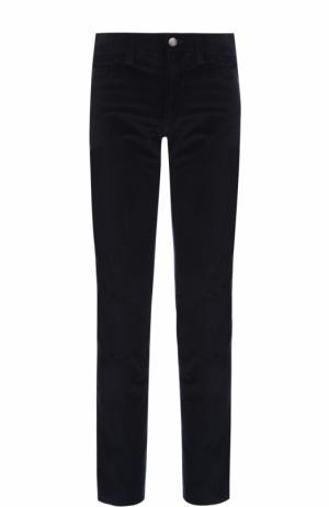 Хлопковые брюки прямого кроя Brioni. Цвет: синий