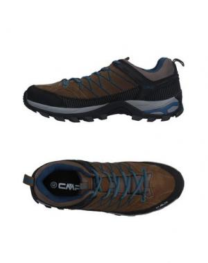 Низкие кеды и кроссовки CMP. Цвет: хаки