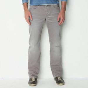 Джинсы широкие R jeans. Цвет: синий потертый