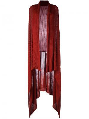 Длинный кардиган-накидка Area Di Barbara Bologna. Цвет: красный
