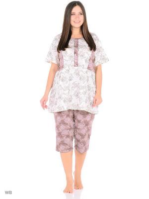 Пижама ИП Кузнецов Д.В.. Цвет: молочный, коричневый