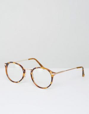Jeepers Peepers Круглые очки с прозрачными стеклами эксклюзивно для AS. Цвет: коричневый