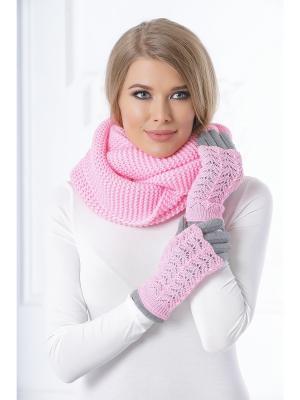Митенки Ажур Siberika. Цвет: розовый