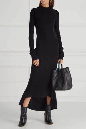 Шерстяное платье Aquilano.Rimondi. Цвет: черный