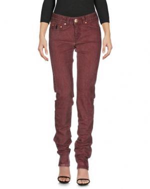 Джинсовые брюки BARBA Napoli. Цвет: красно-коричневый