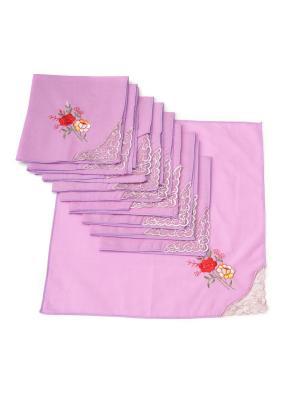 Носовые платки, 10 шт Lola. Цвет: фиолетовый