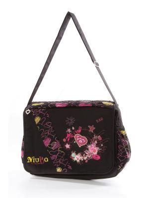 Сумка Vittorio Richi. Цвет: черный, розовый