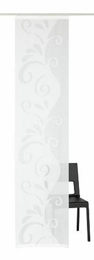 Японская штора, Deko trends, «ben» (комплект из 1 шт.) TRENDS. Цвет: белый
