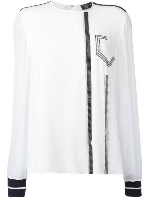 Декорированная блузка Versace. Цвет: белый