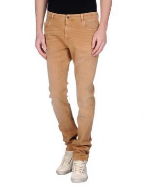 Джинсовые брюки CLOSED. Цвет: верблюжий
