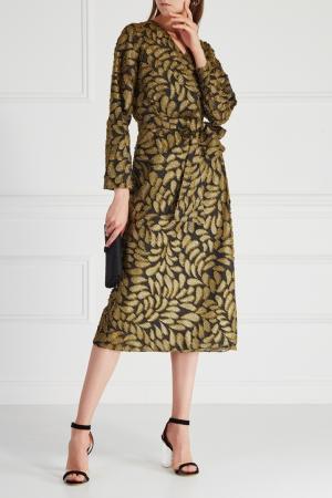 Платье с запахом VIKTORIA IRBAIEVA. Цвет: золотой
