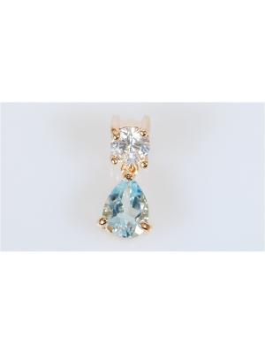 Кулон Голубой топаз Lotus Jewelry. Цвет: голубой
