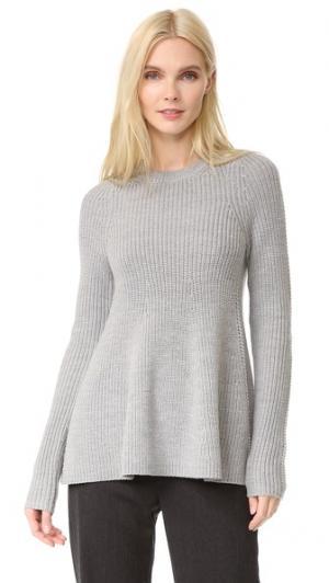 Расклешенный свитер с длинными рукавами Grey Jason Wu. Цвет: зола