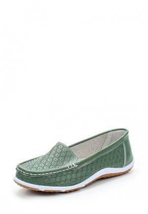 Мокасины Zenden Comfort. Цвет: зеленый
