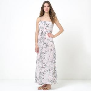 Платье длинное BY ZOE. Цвет: наб. рисунок/ розовый