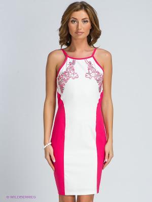 Платье TOPSANDTOPS. Цвет: розовый