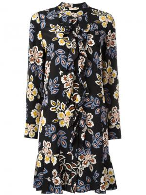 Floral print dress Tory Burch. Цвет: чёрный