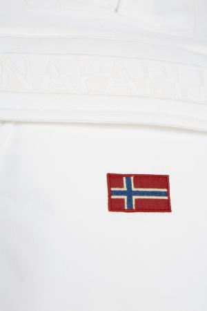 Утепленный анорак белый Skidoo Napapijri. Цвет: белый