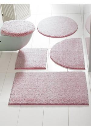 Коврик для ванной Heine Home. Цвет: розовый/белый, серый/белый