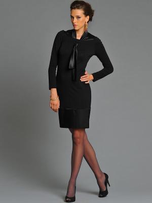 Платье Арт-Деко. Цвет: черный