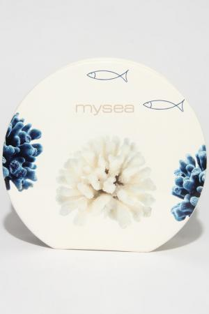 Ваза круглая Моё море Ceramiche Viva. Цвет: белый