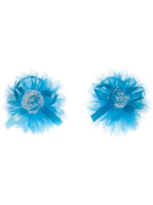 Резинка для волос (2 шт) Bizon. Цвет: голубой
