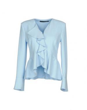 Пиджак ANNARITA N.. Цвет: небесно-голубой
