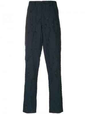 Классические брюки Issey Miyake. Цвет: синий