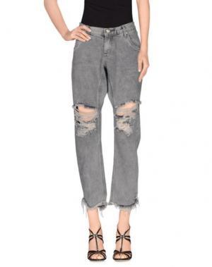 Джинсовые брюки ONE x ONETEASPOON. Цвет: свинцово-серый