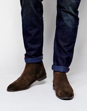 ASOS Замшевые ботинки-челси. Цвет: коричневый