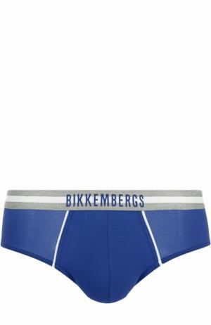 Хипсы с широкой резинкой Dirk Bikkembergs. Цвет: синий