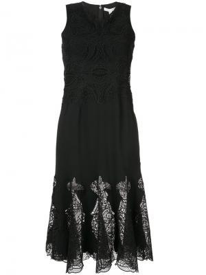 Платье с вышивкой Jonathan Simkhai. Цвет: чёрный