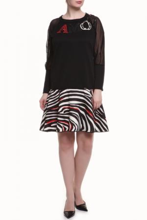 Платье 22 MAGGIO. Цвет: черно-красный