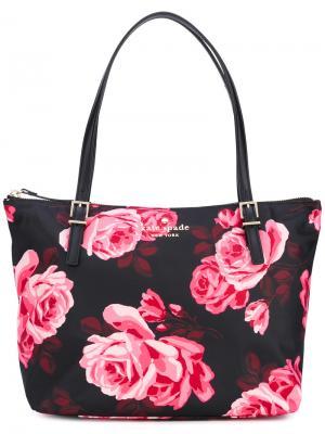 Сумка-шоппер с цветочным принтом Kate Spade. Цвет: многоцветный
