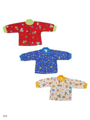 Кофта, 3 штуки Babycollection. Цвет: красный, синий