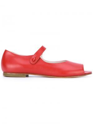 Туфли с открытым носком Daniela Gregis. Цвет: красный