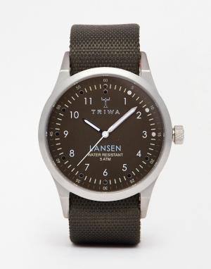 Triwa Часы на парусиновом ремешке Lansen LAST111 MO063212. Цвет: зеленый
